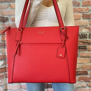 Kate spade LARGE Cameron pocket tote ROSSO RED